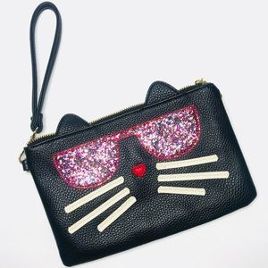 Charming Charlie Kitten Kitty Cat Wristlet